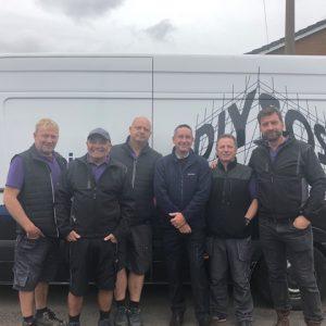 Birtley Group Regional Sales Manager Steve Loraine & the BBC DIY SOS team