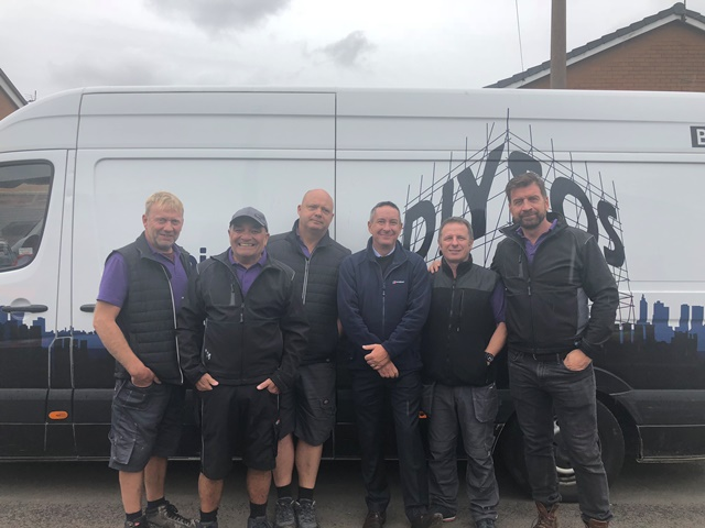 Birtley Lintels attend 'The Big Reveal' for latest BBC DIY SOS Project